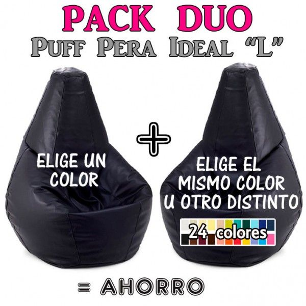 "Pack Duo Puff Pera Ideal ""L"""