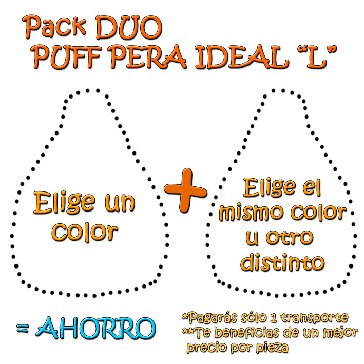 Pack Duo Puff Pera Ideal