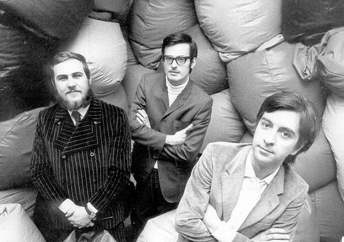 Piero Gatti, Cesare Paolini y Franco Teodoro.