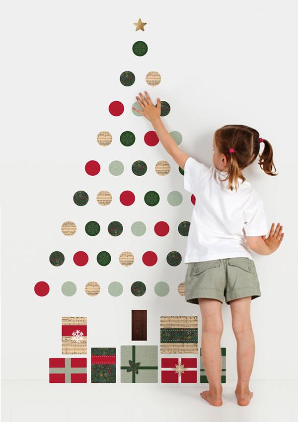 arbol Navidad sticker-vinilo