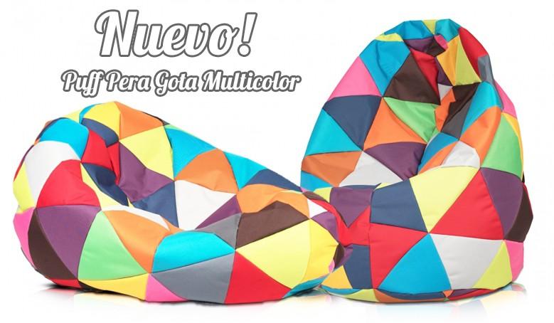 Puff infantil / juvenil multicolor